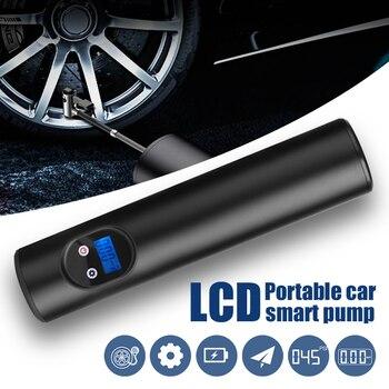 Smart Portable Compressor Mini 12V LED Light Tire Air Pump Convenient 150psi Tire Inflator