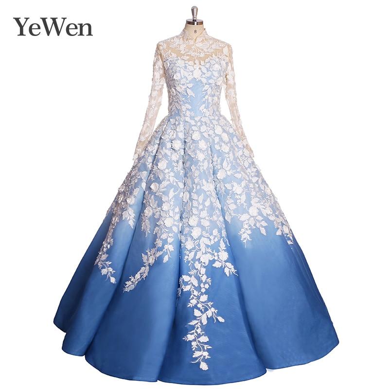 White Royal Blue Wedding Dresses