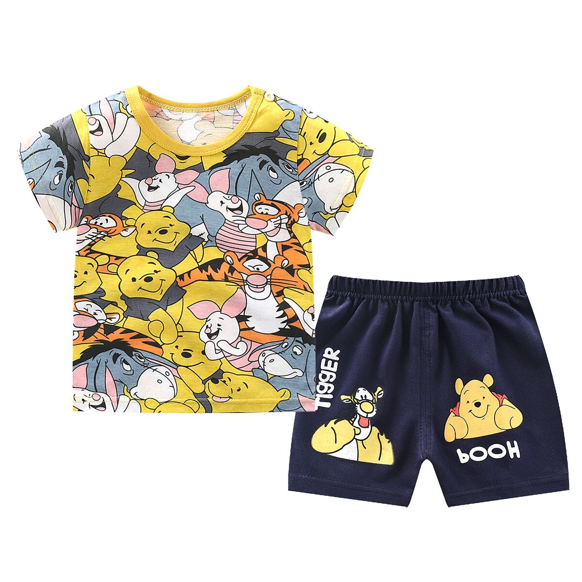 Brand Designer Cartoon Clothing Mickey Mouse Baby Boy Summer Clothes T-shirt+shorts Baby Girl Casual Clothing Sets 3