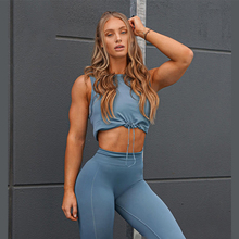 New Seamless Fitness Clothing Sportswear Drawstring Top Set Sport Suit Women Workout Yoga Set Tracksuit Running Athletic Wear