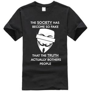 Anonimowy cytat t-shirt fałszywe społeczeństwo prawda pigułka zabawny haker Parody facet Fawkes