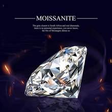 Szjinao prawdziwe 100% luźny moissanit diament 2ct D kolor VVS1 8MM niezdefiniowany kamień do biżuterii diamentowy pierścionek z certyfikatem GRA