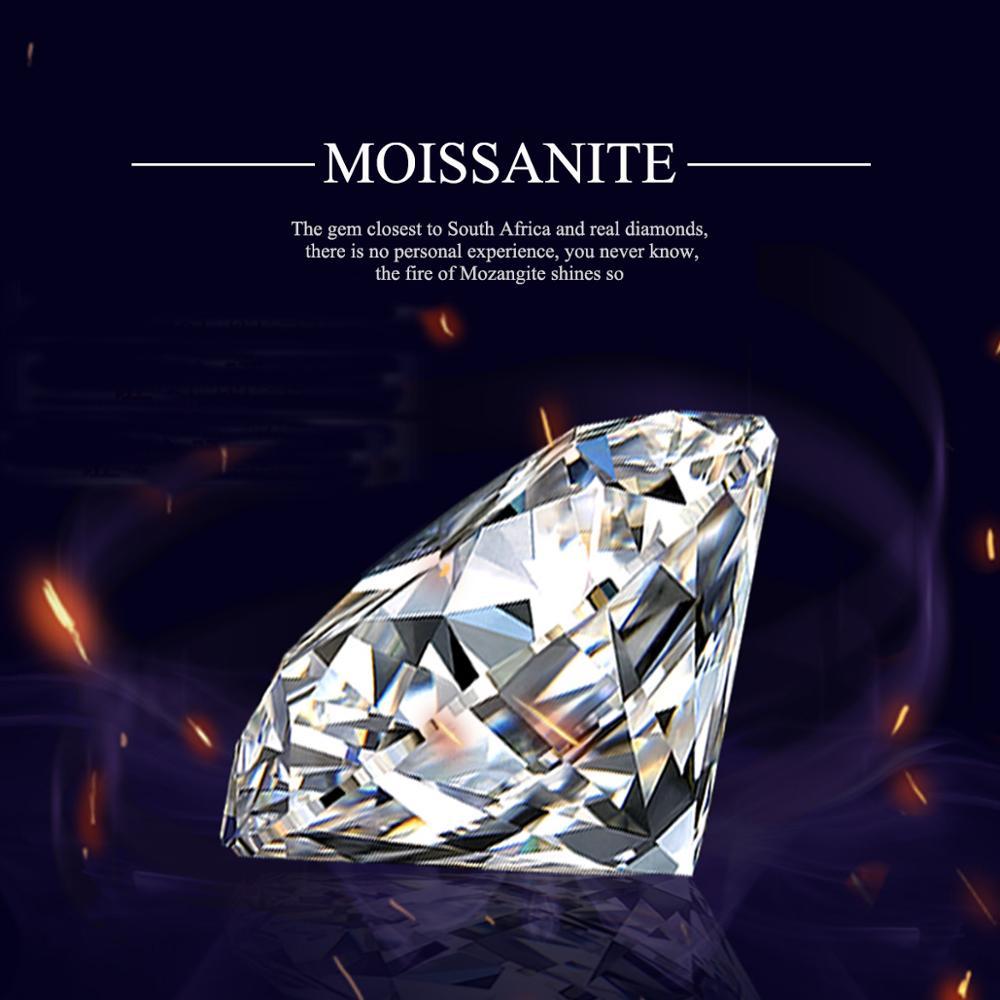 Szjinao gerçek 100% serbest moissanit 1.0ct karat 6.5mm VVS1 D renk yuvarlak elmas kesim DIY yüzük bilezik takı sertifika ile
