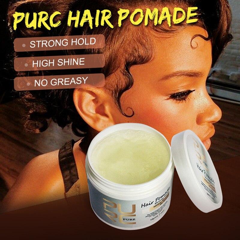 120ml PURC cheveux pommade style fort reconstituant pommade cheveux cire cheveux huile cire boue pour le contrôle des bords de coiffure