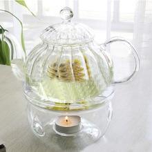 Портативный держатель для чайника, подставка для теплее, Свеча для кофе, вода, держатель для чая, стекло, жаростойкое покрытие для чайника