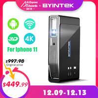 BYINTEK OVNI R15 inteligente de 300 pulgadas Android WIFI Video LED portátil Mini DLP 3D proyector para Iphone 11 Full HD 1080P de Teatro en Casa 4K