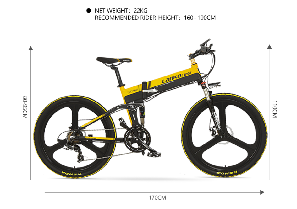 2020 China  LANKELEISI  26 inch bike electric mountain 27 Speeds Hydraulic Suspension Fork 250W 48V 10Ah Lithium Baterry 8