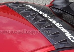 Image 1 - For Mitsubishi Lancer EVO 10th Carbon Fiber Roof Spoiler Shark Fin Wing Lip 2008 2014