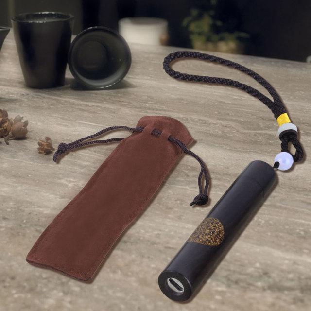 Mechero electrónico de madera de sándalo grabado, mechero de madera Vintage, mecheros de carga USB