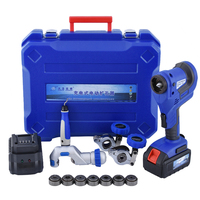 Cordless Electric Flaring Tool Kit CT-E800AM with Scraper Tube cutter Spare Battery Steel Bar for 1/4'~3/4