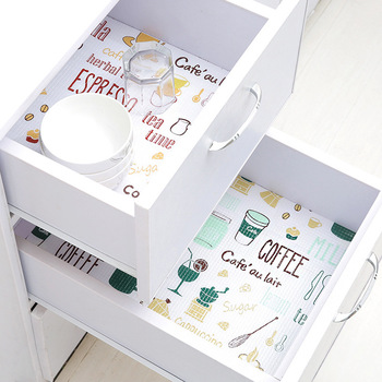 1Roll Kitchen Sticker tools Table Drawers Cabinet Shelf Liners Flamingo Cupboard Placemat Waterproof Oil proof Shoes Cabinet Mat