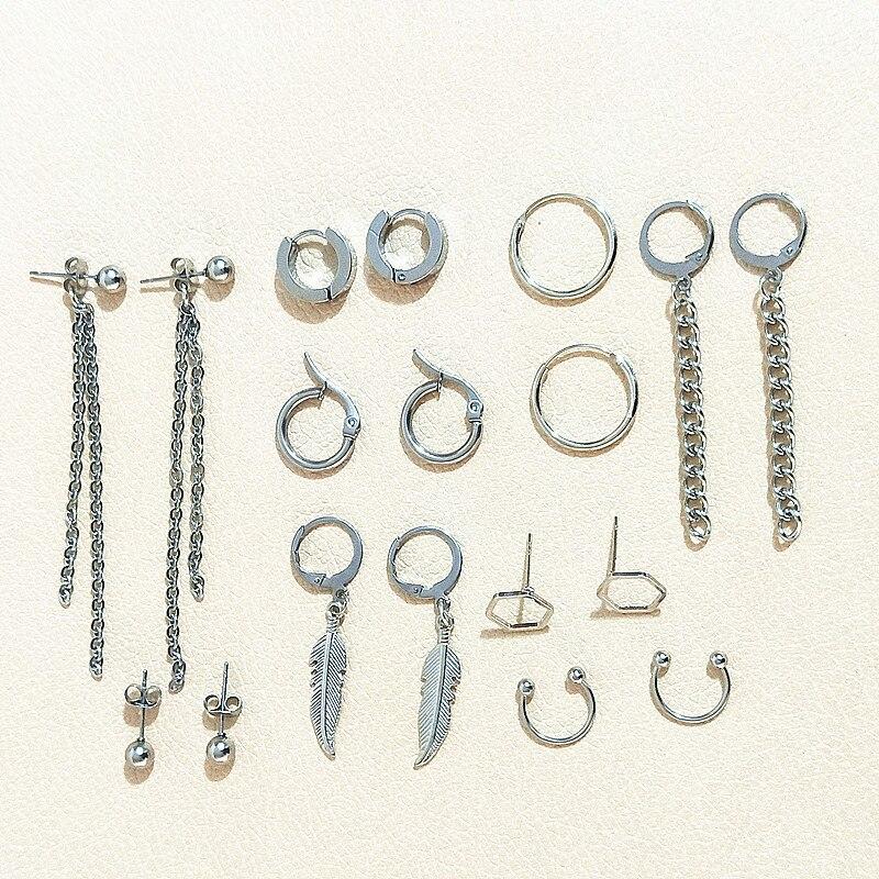 Kpop Bangtan Earrings 24 Style For Choose For Women And Men Piercing Simulated Dangle Earring Punk Tassel Ear Stud Kpop Bangtan