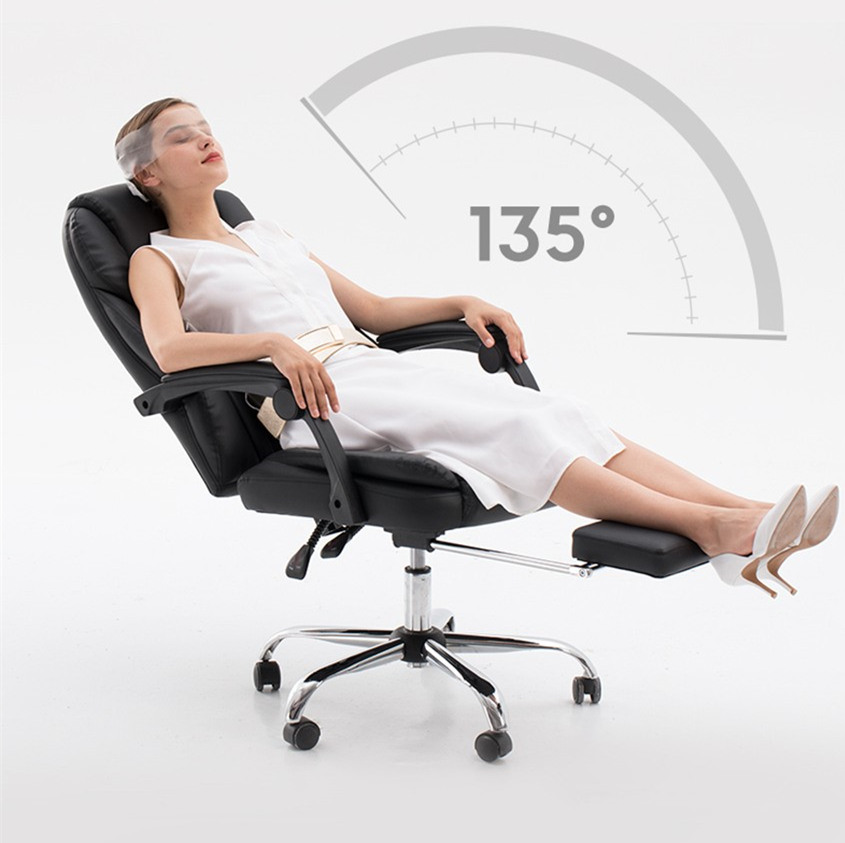 Computer Chair Recliner Office Chair Lying Lifting Armchair With Footrest Boss Chair High Quality Free Shipping