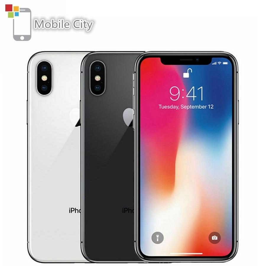 Apple IPhone X Face ID 4G LTE Unlocked Mobile Phones 64GB/256GB ROM 3GB RAM Hexa Core 5.8