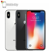 Apple iPhone X Face ID 4G LTE Unlocked Mobile Phones 64GB/256GB ROM 3GB RAM Hexa Core 5.8 iOS 12MP Dual Back Camera Smartphone