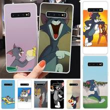MayDaysmt Funny Cat Phone Case Cover For Samsung S6 S7 S7 edge S8 S8 Plus S9 S9 Plus S10 S10 plus S10 E(lite) maydaysmt abstract art phone case cover for samsung s6 s7 s7 edge s8 s8 plus s9 s9 plus s10 s10 plus s10 e lite