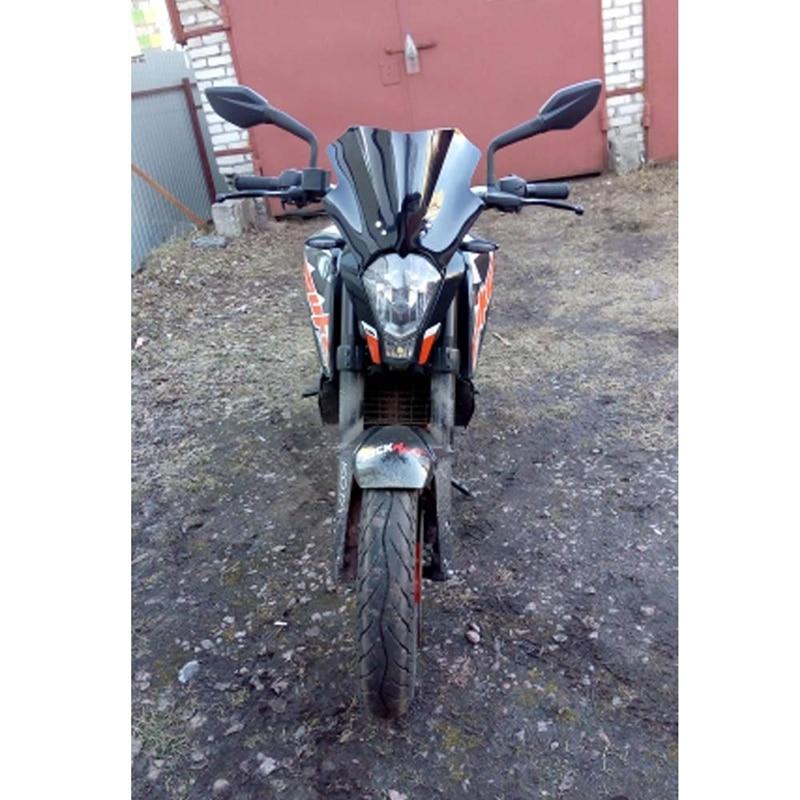 Motorcycle Double Bubble Black Wind Screen Windshield for 125 200 390 Duke Wind Screen