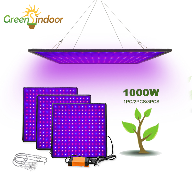 Indoor Led 1000W Grow Light Panel Full Spectrum Phyto Lamp For Flowers Lamp For Plants Leds Fitolamp Grow Tent Veg And Flowers