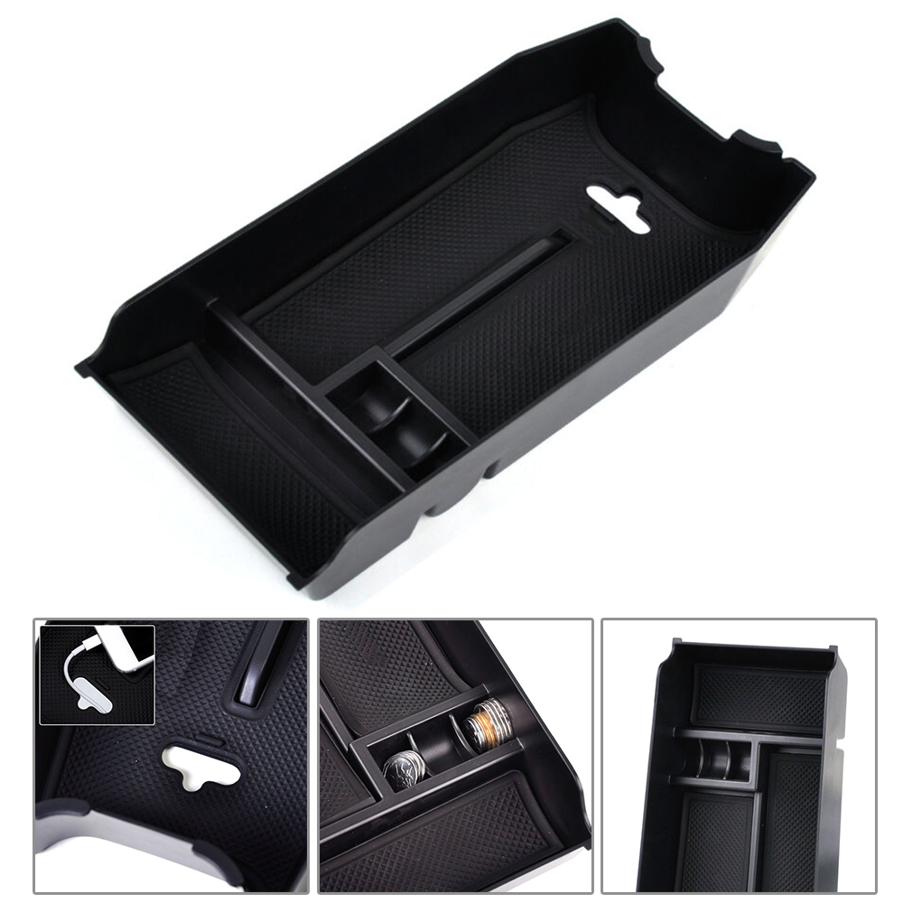 Center Console Armrest Storage Tray Box Organizer And  Rubber Pad For Mercedes W212 The ABS For Audio And Electrical Equipment