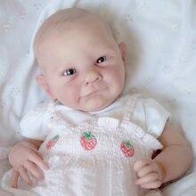 19 Polegada popular edição limitada ava reborn vinil boneca kit certificado fresco cor toque macio
