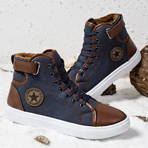 Sneakers Vulcanized Casual-Shoes Lace-Up Large-Size Winter High-Style Fashion Classic