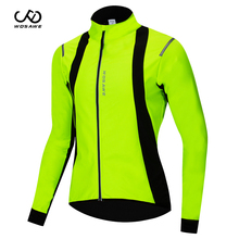 WOSAWE Winter Windproof Cycling Jacket Warm Up Bicycle Clothing Waterproof Repellent Front Sports Coat Thermal MTB Bike Jersey wosawe thermal winter wind cycling jacket windproof bike bicycle coat clothing long sleeve cycling sets jersey pants set