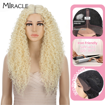 Synthetic Wig Lace Front Wig 25Ombre Blonde Wigs For Black Women 613 Cosplay Wigs For Women Synthetic Lace Front Miracle Wig image