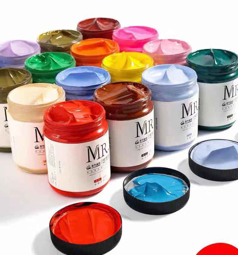 300ml Professional Acrylic Paint Wall Painting Diy Hand-painted Graffiti Waterproof Safety Formaldehyde-free Material Oil Paint