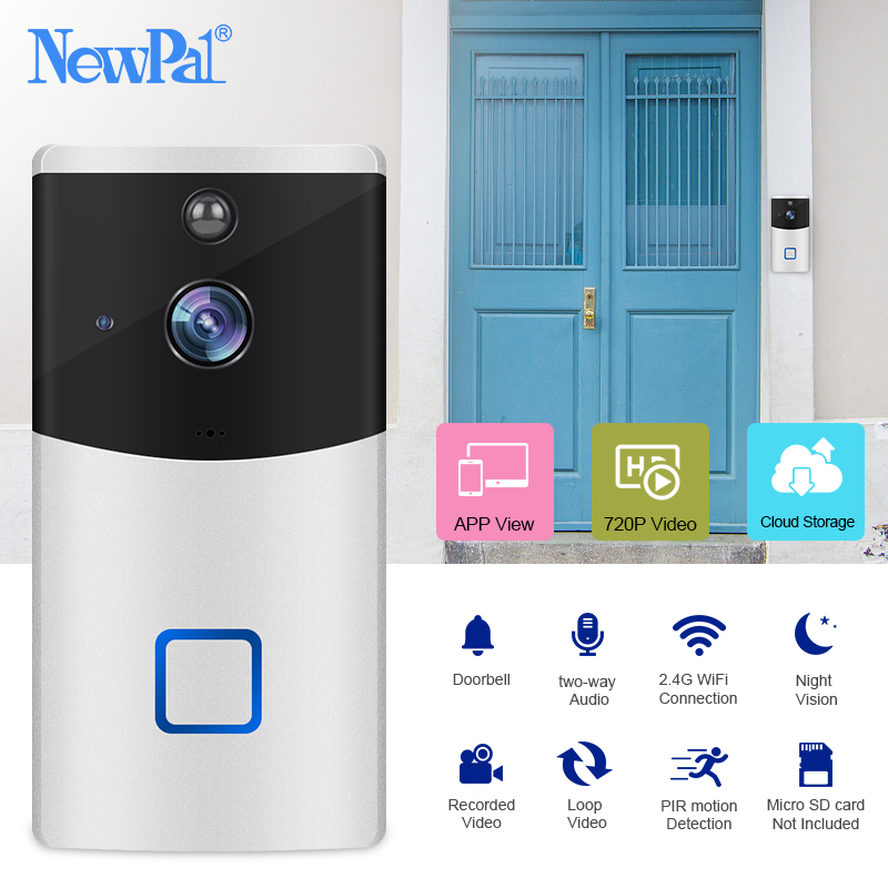 Ring Doorbell Camera WiFi Video Door Bell Wireless Intercom Doorbell 1080p Door Ring Security Visual Call Audio with IP Chime|Doorbell| |  - title=