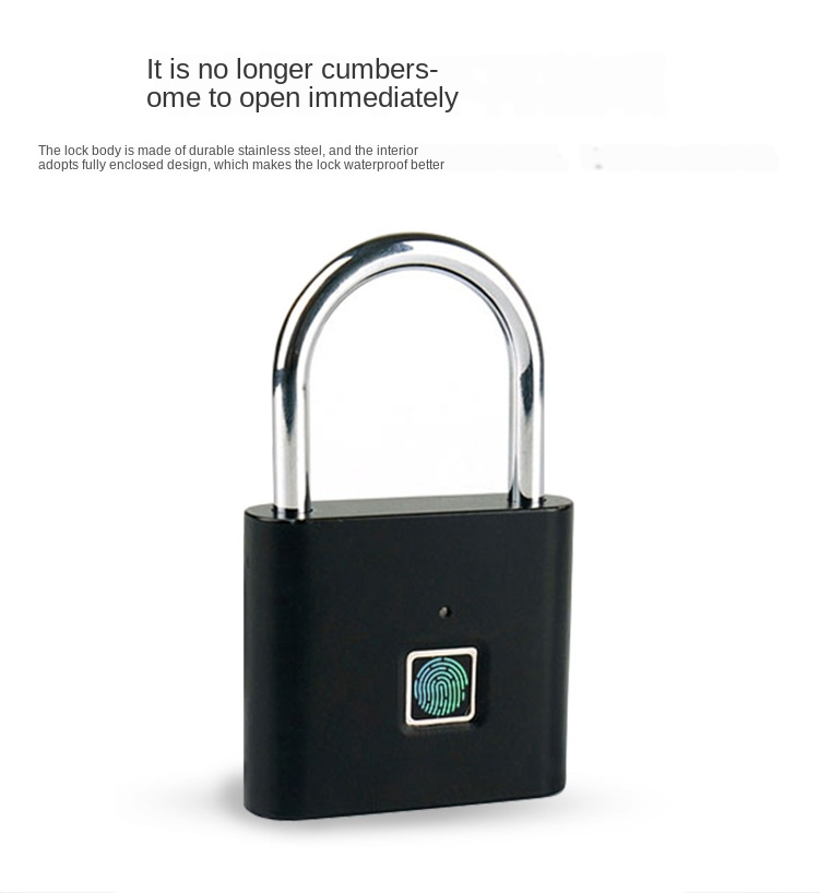 Home security fingerprint padlock intelligent padlock small lock fingerprint cabinet lock cabinet lock dormitory security lock
