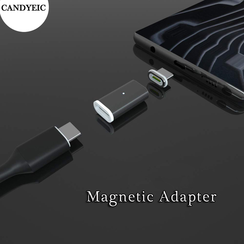 CANDYEIC Magnetic Adapter For IPhone 11 Pro Max XR XS Android Type C Micro USB 2.0 Fast Charging Charger Adapter