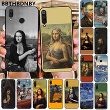 For xiaomi mi9 case Aesthetic Mona Lisa Van Gogh Fundas Phone Protective Cases for Xiaomi 8 9 se Redmi 6 6pro 6A 4X 7 note 5 7(China)