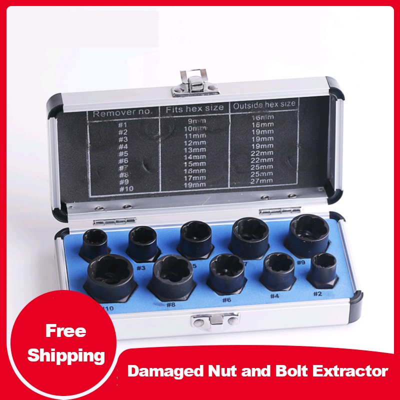 Damaged Nut And Bolt Extractor Bushing Head Remove Outer Hexagon Screw Tool Sleeve Bolt And Nut Broken Wire Extractor