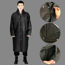 Fashion Adult Waterproof Long Raincoat Women Men Rain Coat Hooded For Outdoor Hiking Travel Fishing Climbing Coat Thickened