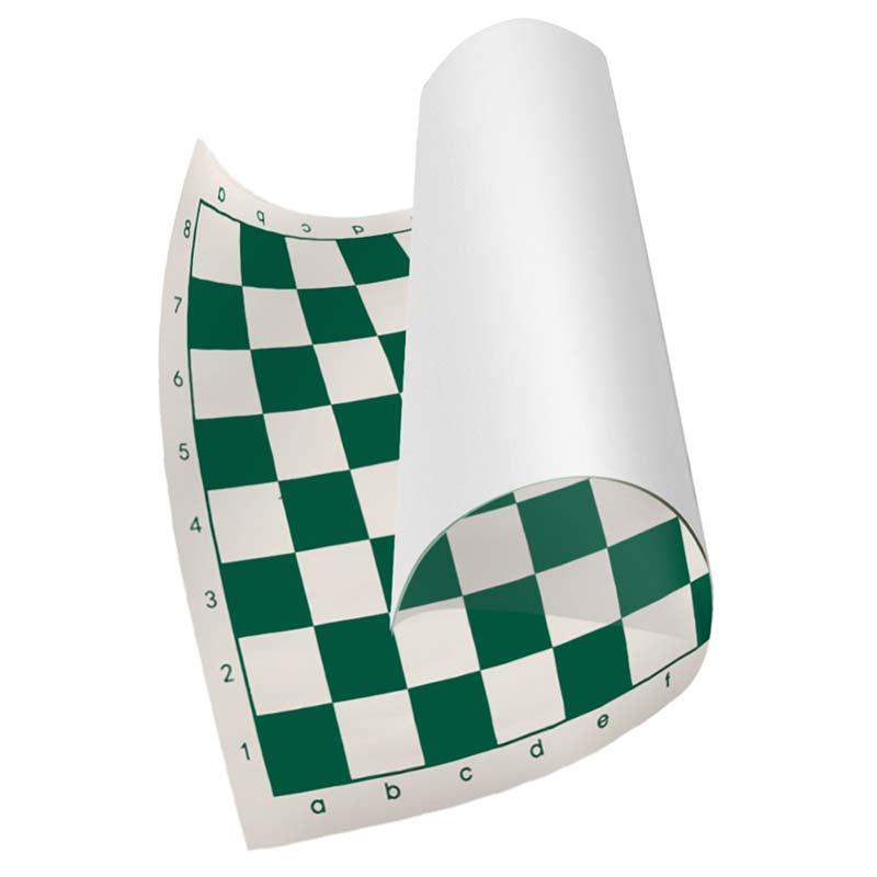 Tablero de ajedrez de cuero PVC verde