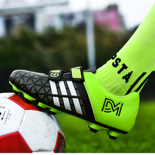 2020 Boys Kids Football Boots FG Soccer Shoes for Children PU Leather Man Soccer Cleats Shoes Women Chaussures De Football Homme