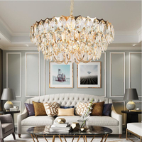 Crystal chandelier living room luxury modern villa simple creative designer American bedroom dining room lamps