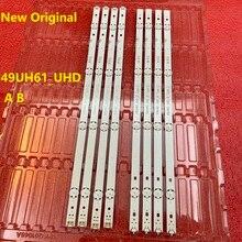 8 unids/set tira de LED para iluminación trasera para LG 49UH610V 49UH61_UHD_A B 49UH603V 49UH601V 49UH620V innotek 15.5Y 49 pulgadas EAY63192605