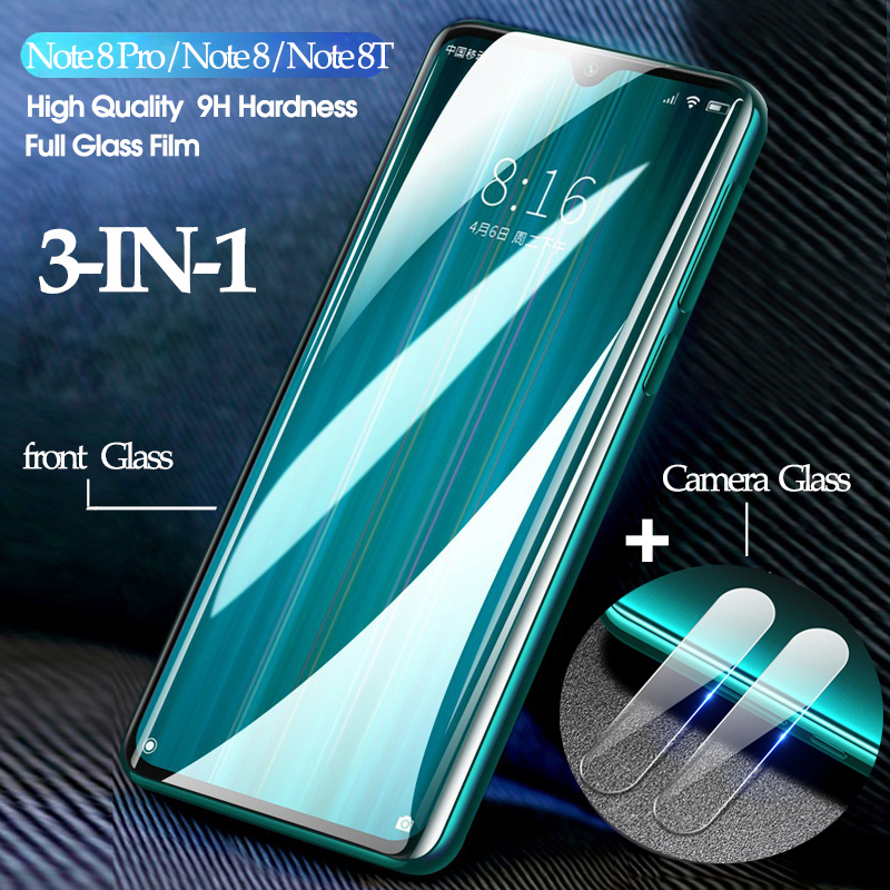 <font><b>3</b></font>-in-1 kamera screen protector für <font><b>Xiaomi</b></font> Redmi <font><b>Note</b></font> 8 Pro 8T 8 A <font><b>Note</b></font> 7 pro 7A <font><b>glass</b></font> Redmi <font><b>Note</b></font> 8 Pro screen protector image
