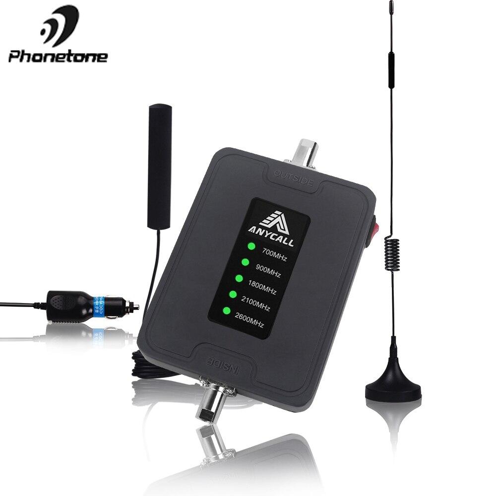 2G 3G 4G LTE Amplificateur De Téléphone Portable 4G 700 900 1800 2100 2600mhz Répéteur de Signal Cellulaire D'amplificateur De Téléphone Portable GSM DCS pour Voiture RV