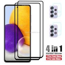 Protector de cristal para lente de cámara Samsung Galaxy A52, película de protección para lente de cámara Samsung A72 5G A 52 72