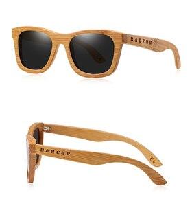 Image 4 - BARCUR 레트로 남자 선글라스 여성 편광 선글라스 대나무 수제 나무 선글라스 비치 나무 안경 Oculos de sol