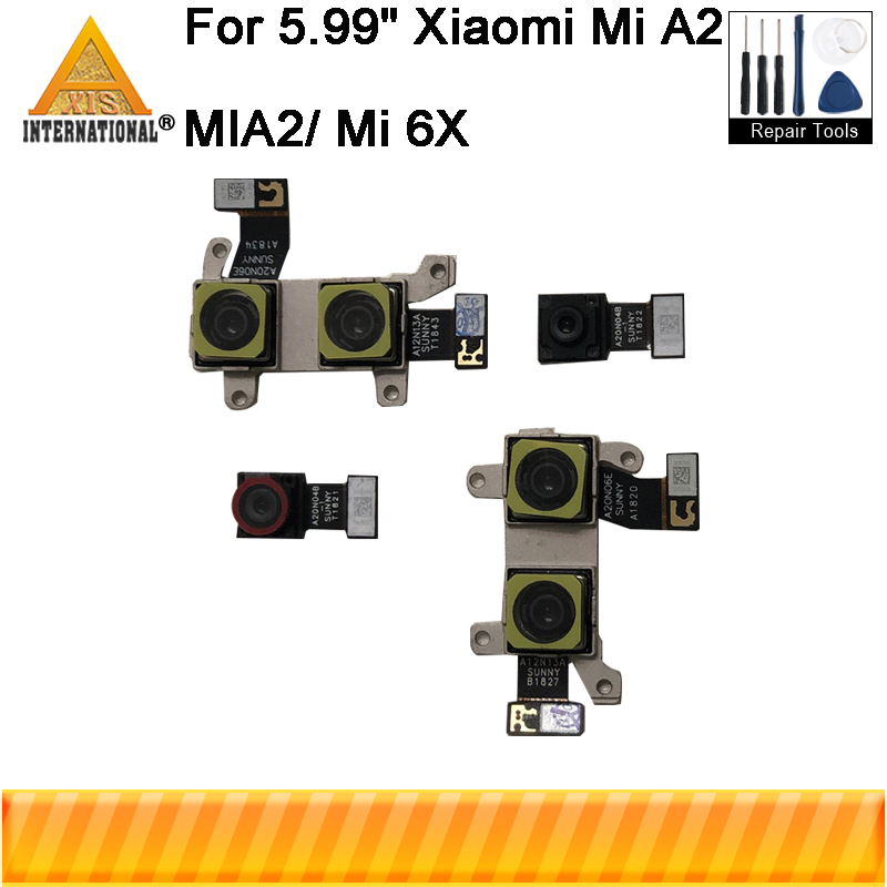 Original Axisinternational For Xiaomi A2 Mi A2 MIA2 Rear Back And Front Camera Module Flex Cable For Mi 6X MI6X Big Small Camera