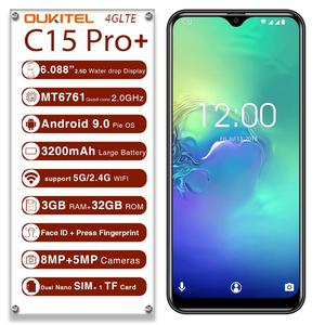 Image 2 - OUKITEL C15 Pro+ 3GB 32GB Android 9.0 MT6761 Mobile Phone Waterdrop Screen Smartphone 4G LTE  2.4G/5G WiFi Fingerprint Face ID