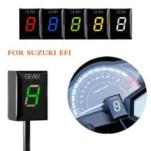 Motorcycle 1-6 Level LED Speed Gear Display Indicator ECU Plug for Suzuki Intruder 800 V-Strom GSX r1000r R600 750 SV 650 KATANA