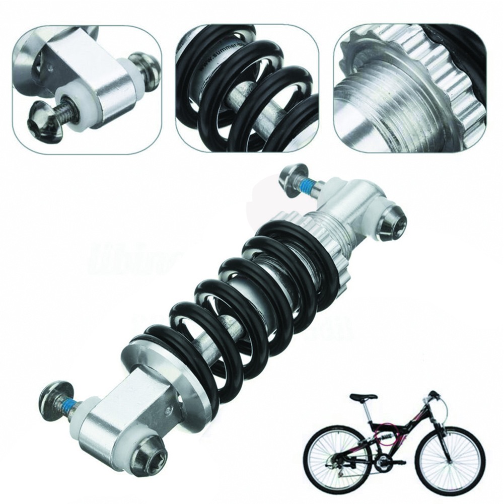 KS Black bike soft rear shock device 125//150//165//190MM Single Double Air Chamber