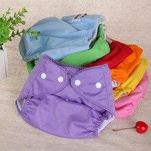 Многоразовые подгузники из хлопка для новорожденных, регулируемый по размеру подгузник, моющаяся ткань, модная Высококачественная мягкая ...