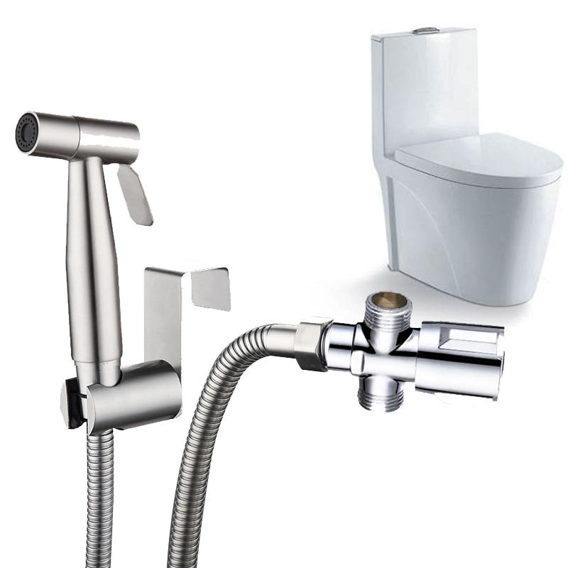 Смеситель для биде LASO Shattaf, ручной распылитель для туалета, Т-образный клапан, для ванной комнаты, самоочищающийся моющийся пол