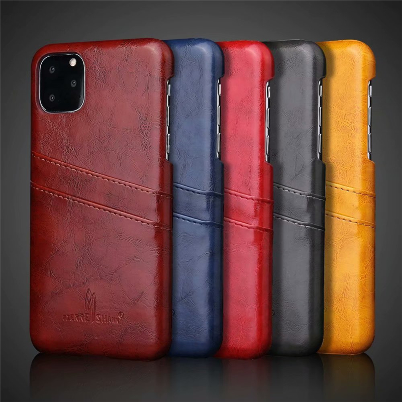 Slim Hard Leather Card Holder Case for iPhone 11/11 Pro/11 Pro Max 3