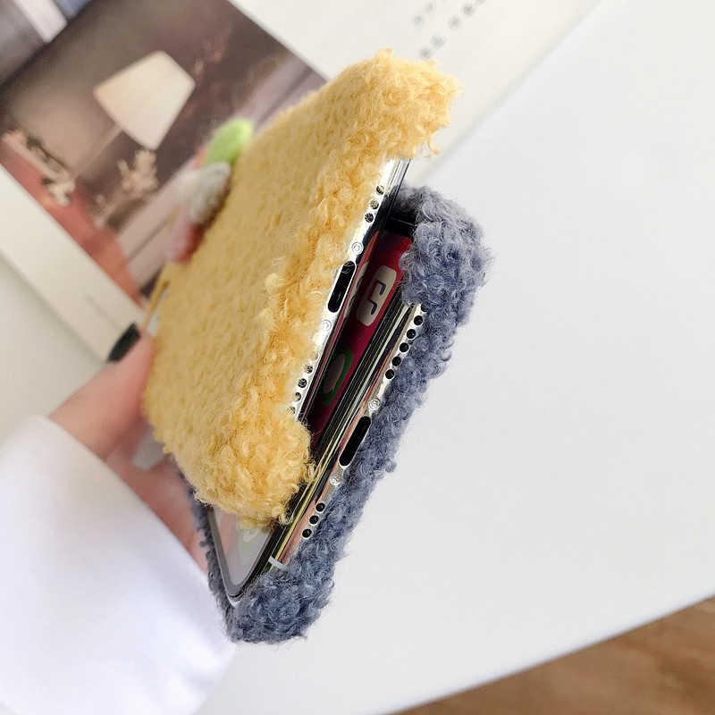 SUEF Liefhebbers leuke Fluffy Fur Case Voor iPhone 7 8Plus XR XS MAX 11 Pro MAX Telefoon Tassen Case coque